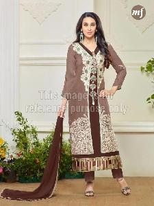 Embroidered Georgette Straight Cut Suit
