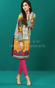 Embroidered Pakistani Kurti in Lawn Cotton