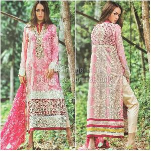 Vintage Collection Cambric Print Suit with Chiffon Printed Dupatta