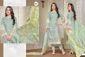 Pakistani Designer Suit with Chiffon Dupatta
