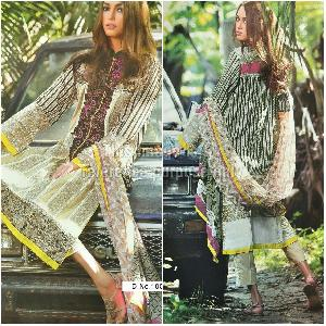 Designer Cambric Print Suit and Chiffon Dupatta