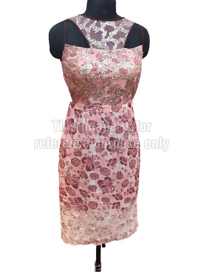 Light Pink Coloured One-Piece Short Dress