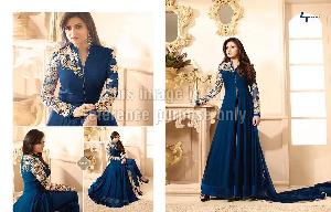 Designer Front Open Suit with Embroidery