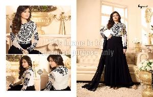 Designer Black Suit with Embroidery