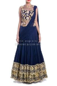 Navy Blue Colored Dress with Dupatta
