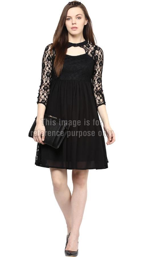 Black Coloured One-Piece Dress