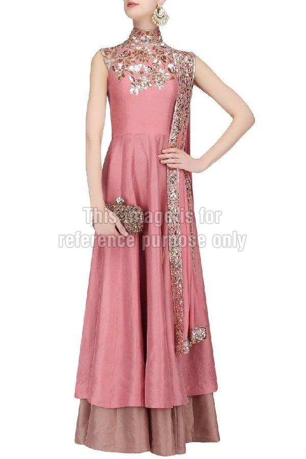 Rose Pink Coloured Suit with Skirt