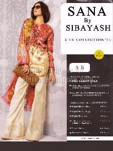 Digital Print Satin Shirt With Silk Dupatta