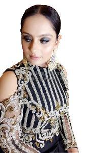 Black Colored Shoulder-Cut One-Piece Dress