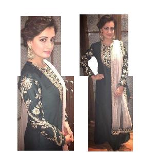 Pakistani Style Embroidered Long Kurti with Dupatta