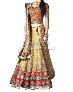 Golden Colored Lehenga with Heavy Embroidered Border