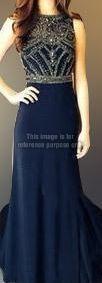 Majestic Aegean Blue Evening Dress