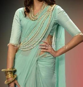 Sonam Kapoor Sky Blue Saree