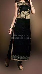 Black Full Length Sleeveless Kurti