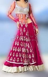 Majenta Designer Lehenga with Stylish Side Cut