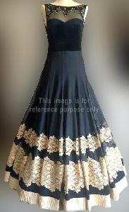 Black and Beige Floor Touch Dress