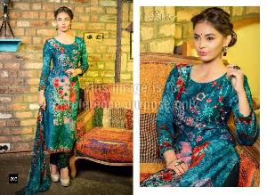 Embroidered Rveel Gold Sea Green Suit