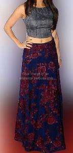 Stylish Royal Blue Fusion Wear