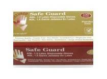 Safeguard Latex Examination Glove Powdered Gloves (1 Case)