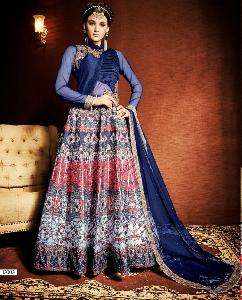 Print Japan Sartin with Tapeta Silk Designer Dress