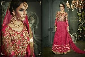BLOUSE & SLEEVES OF NET FABRICS WITH HEAVY EMB. & STONE WORK