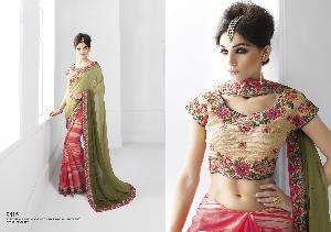 Faux Chiffon & Art Silk Designer Saree MH ELO 9415