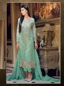 Faux Georgette semiStiched Salwar Kameez SH SEN 2021