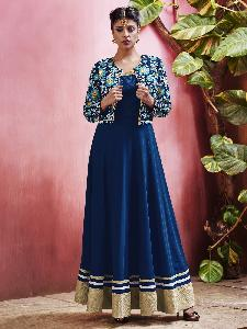 Georgette & Textured Net Exclusive Readymade Designer Salwar Kameez