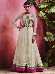 Net & Brasso shimme Exclusive Readymade Designer Salwar Kameezr