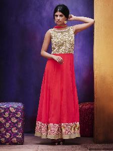 Georgette & Embroidered net Exclusive Readymade Designer Salwar Kameez