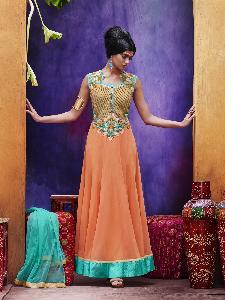 Georgette Textured tissue Dupion Exclusive Readymade Designer Salwar Kameez