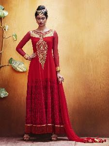 Georgette Tikki Fabric velvet Lace Exclusive Readymade Designer Salwar Kameez