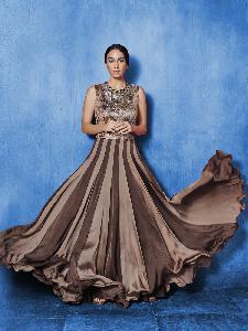 Chiffon & Textured fabric Exclusive Readymade Designer Salwar Kameez