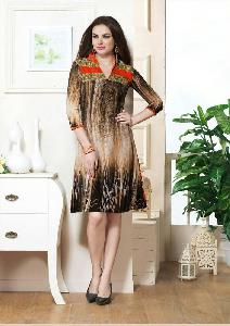 Printed Faux Georgette Daily Wear Kurti