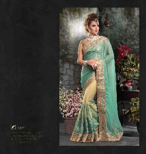 Chiffon Butti + Net Designer Saree PF 6209