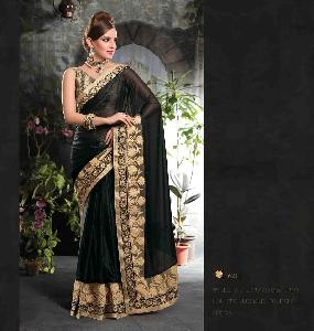 60 Gm Georgette Designer Saree PF 6211