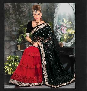 60 Gm Georgette Designer Saree PF 6212