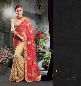 60 Gm Georgette Designer Saree PF 6213