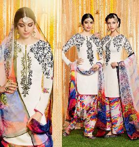 Pure Soft Cotton SATIN Designer Salwar Kameez