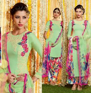 Pure Soft Cotton SATIN Designer Salwar Kameez