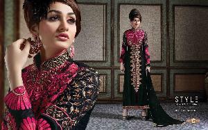 Pure Heavy Bhagalpuri Designer Salwar Kameez