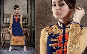 Faux Georgette Designer Salwar Kameez MA AR 7008