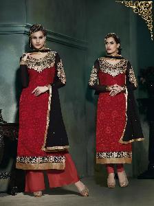 ATTRACTIVE Georgette & Brasso designer  Salwar kameez 726 9201