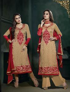 ATTRACTIVE Georgette & Brasso designer  Salwar kameez 726 9203