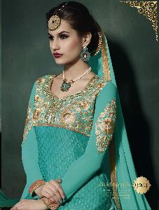 ATTRACTIVE Georgette & Brasso designer  Salwar kameez 726 9204