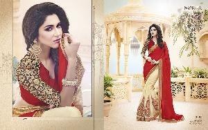 Exclusive Embroidered Saree MA NO BA 8705