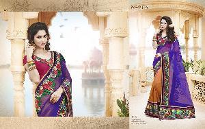 Exclusive Embroidered Saree MA NO BA 8707