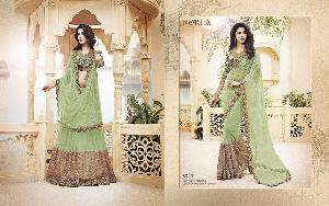 Exclusive Embroidered Saree MA NO BA 8723