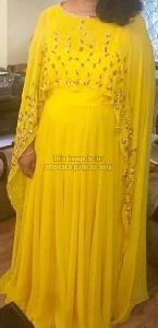 Bright Yellow One-Piece Dress