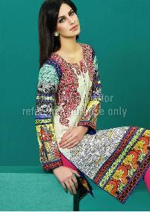 Pakistani Lawn Cotton Kurti with Embroidery